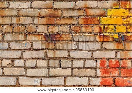 Old Ruined Brickwall