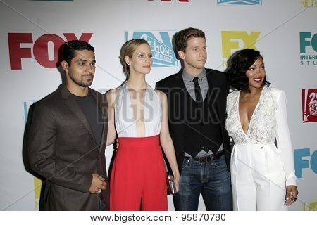 SAN DIEGO - JUL 10:  Wilmer Valderrama, Laura Regan, Stark Sands, Meagan Good at the 20th Century Fox Party Comic-Con Party at the Andaz Hotel on July 10, 2015 in San Diego, CA