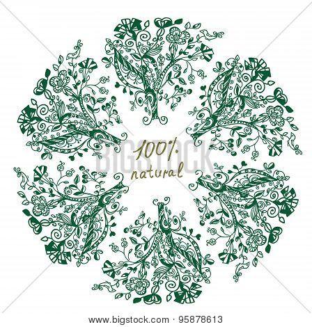 Eco Label - Floral Grafic Design