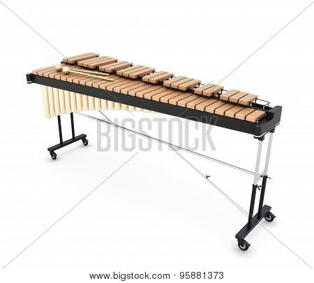3D Illustration Of Xylophone