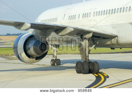 Airplane Engine Rear