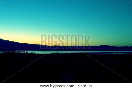 Mono Lake-Aqua-Sunset