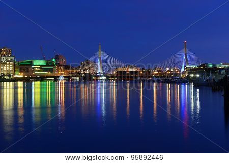Boston Zakim Bunker Hill Bridge and TD Garden