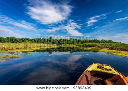 enjoying the sunny day on a lake