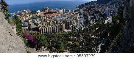Fontvieille District In Monaco - Panoramic Picture