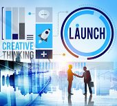Launch New Business Inauguration Begin Start Concept poster