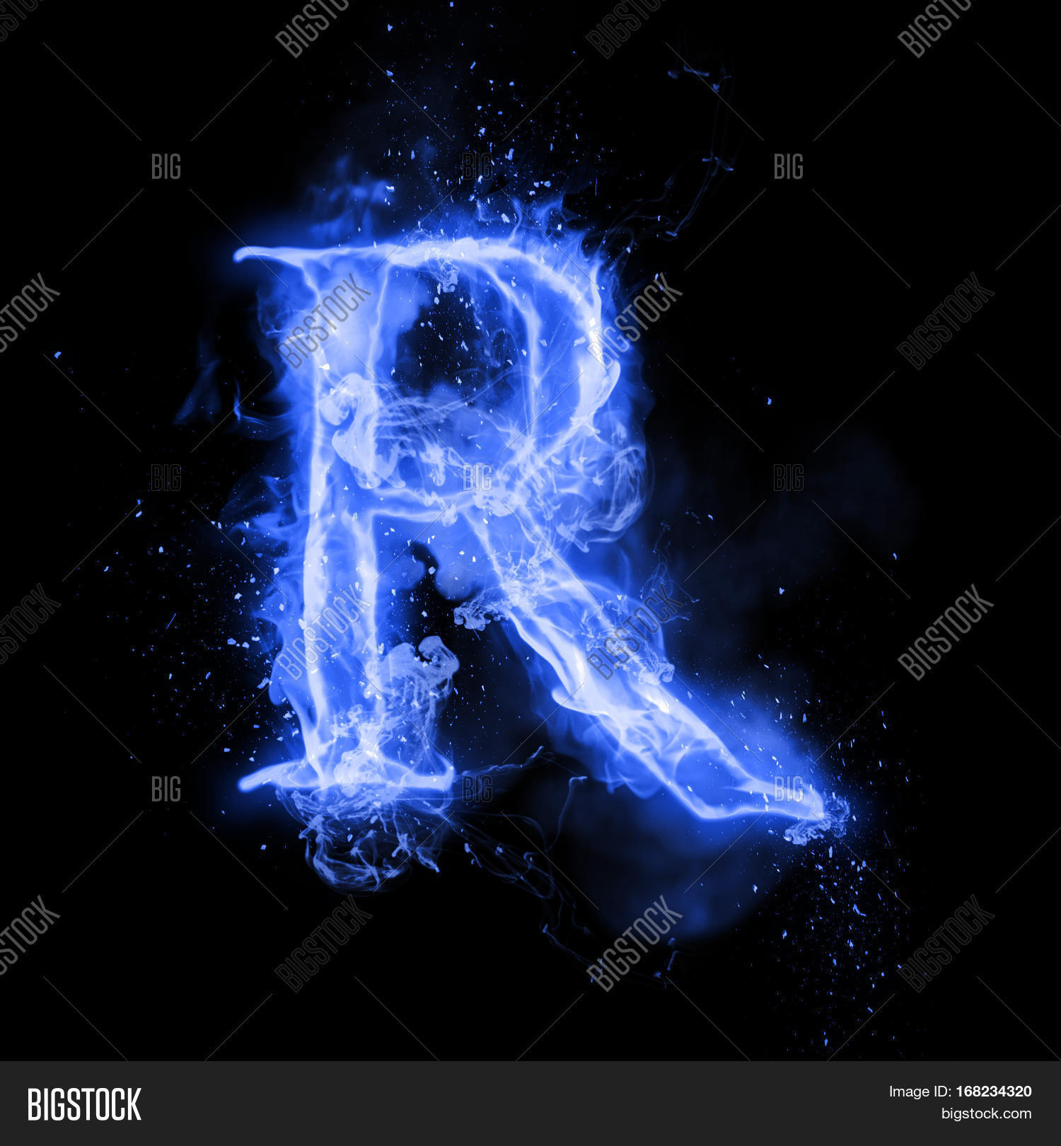 Fire Letter R Burning Image Photo Free Trial Bigstock