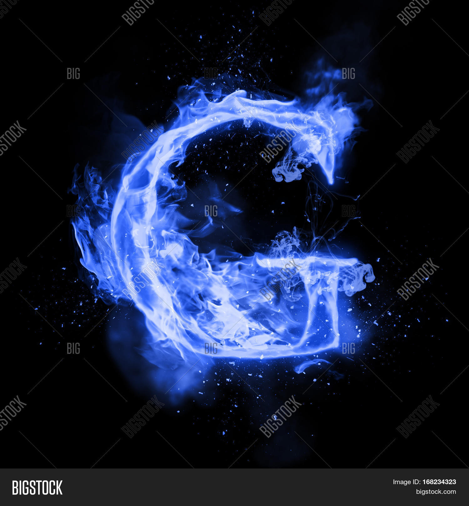Fire Letter G Burning Image Photo Free Trial Bigstock
