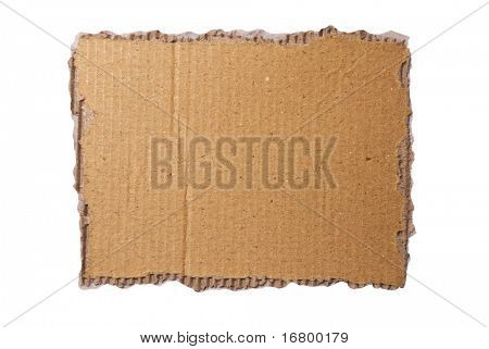 Cardboard background, clipping path