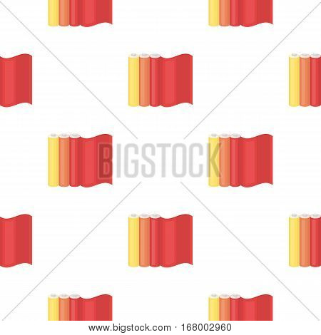 Color printing paper in cartoon style isolated on white background. Typography pattern vector illustration.