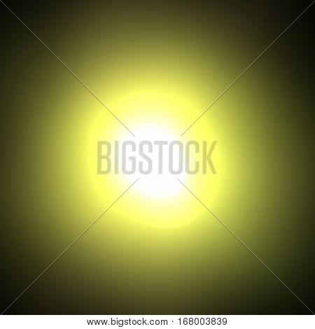 Light glossy center magic yellow illuminated disc sphere