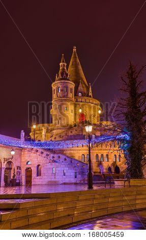 Fisherman Bastion in Budapest Hungary - cityscape architecture background