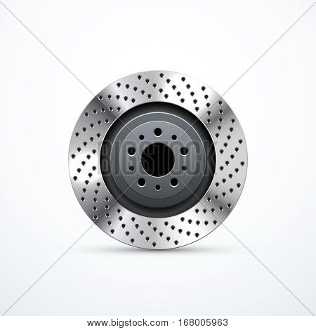 Brake disc isolated. Vector illustration eps 10