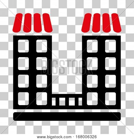 Company icon. Vector illustration style is flat iconic bicolor symbol, intensive red and black colors, transparent background. Designed for web and software interfaces.