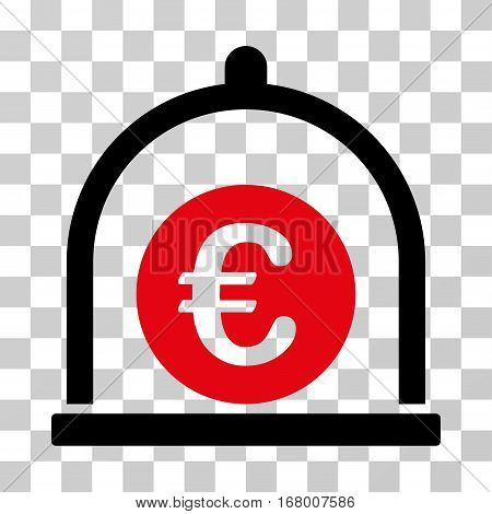 Euro Standard icon. Vector illustration style is flat iconic bicolor symbol, intensive red and black colors, transparent background. Designed for web and software interfaces.