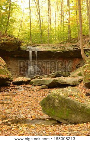 Blue Hen Falls in Cuyahoga Valley National Park in Autumn