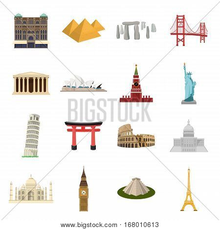 Countries set icons in cartoon design. Big collection of countries vector symbol stock illustration