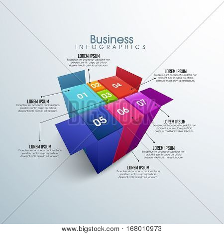 Creatie infographic elements in 3D syle with more options for workflow layout, diagram, business reports and presentation.