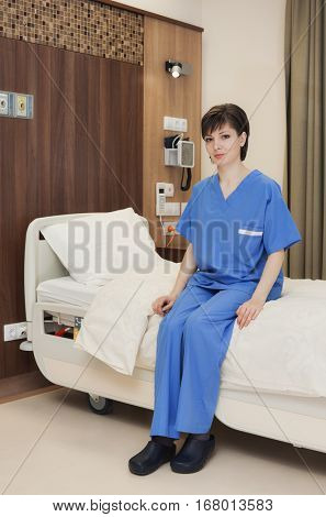 Hospital room bed female