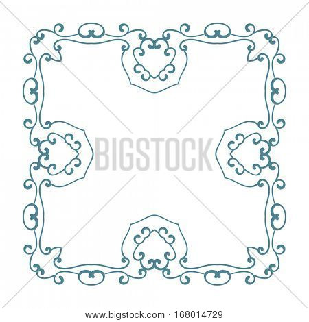 Square openwork frame Isolated design element