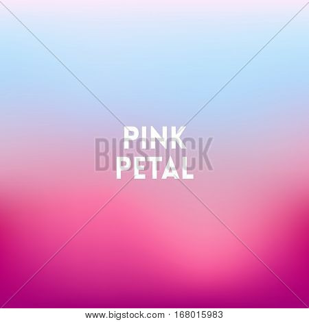 square blurred lilac background - sunset colors With motivating quote - pink petal
