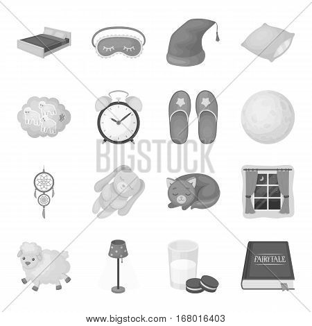Sleep and rest set icons in monochrome design. Big collection of sleep and rest vector symbol stock illustration