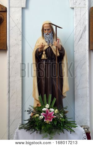 LASINJA, CROATIA - JUNE 21: Saint Anthony the Great, Parish Church of Saint Anthony of Padua in Lasinja, Croatia on June 21, 2011.