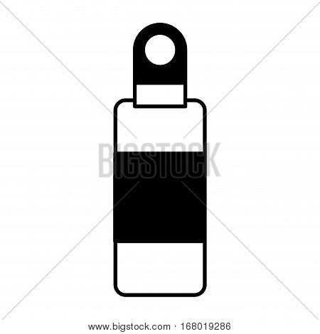 camping bottle canten icon vector illustration design