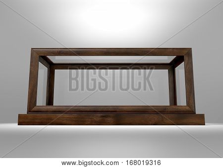 Glass Display Case Frame Horizontal