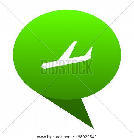 Arrivals green bubble web icon