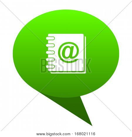 address book green bubble web icon
