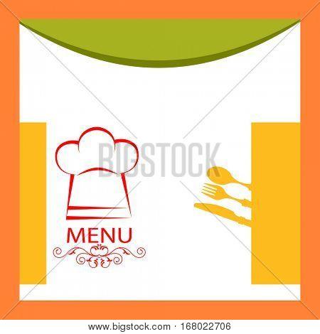 Menu Card Design Template  Vector Illustration