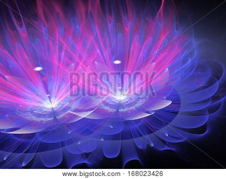 Fractal Elements series. Backdrop of fractal shapes and colors on the subject of art creativity imagination science and design
