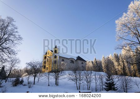 Church Of Assumption In Snowy Mountains Country, Neratov, Orlicke Hory
