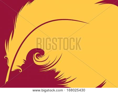 Conceptual Illustration Featuring a Yellow Quill Against a Magenta Background