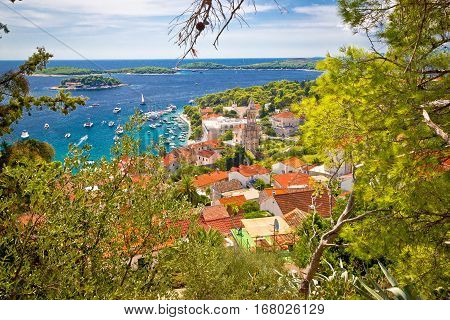 Town Of Hvar From Above