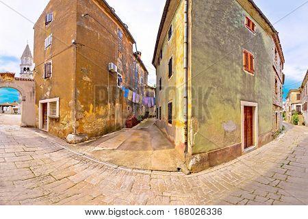 Town Of Visnjan Old Stone Street View