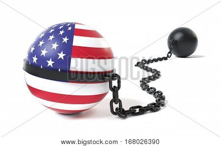 United States hold back by a Ball and Chain restraint device