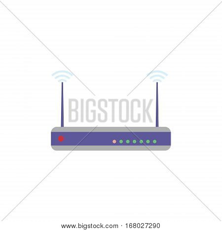 Router flat design isolated. Wifi networking concept