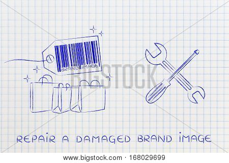 Fixing Your Brand Image, Products With Wrench & Screwdriver