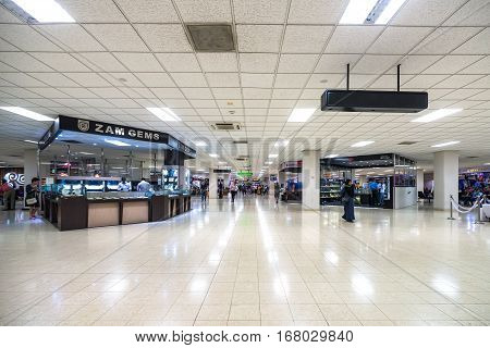 Colombo, Sri Lanka - January 20, 2017: Big Light Hall In Colombo Bandaranaike International Airport