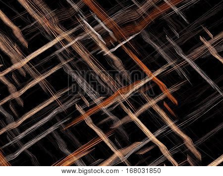 Fractal background or texture with chaos interwoven threads like mat or fabric. Abstract computer-generated image for backdrops, covers, web design.