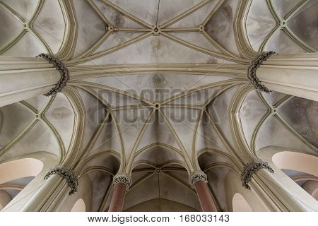 Ukraine, Lviv - December, 16, 2016: Interior of the Church of St. Olha and Elizabeth,  Lviv, Ukraine.