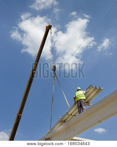 Construction Worker With Crane