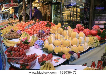 Fruits For Sale In Bursa Outdoor Market
