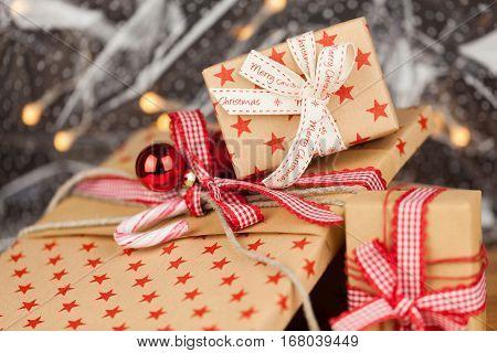 Christmas Presents Kraft Concept
