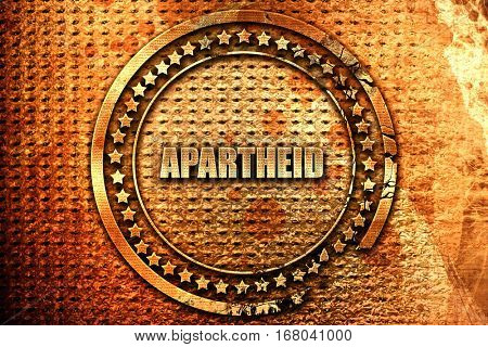 apartheid, 3D rendering, grunge metal stamp