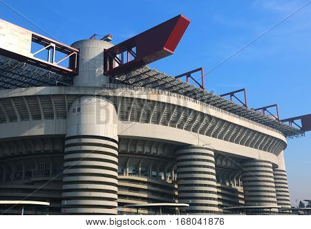 Milan, Mi, Italy - December 9, 2016: Football Stadium Called Sta