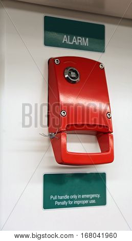 Red Alarm System With Hand Brake To Block Subway