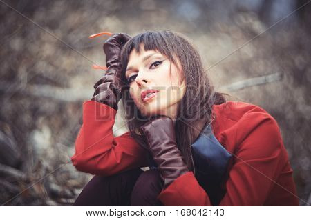 Beautiful Woman In Forest